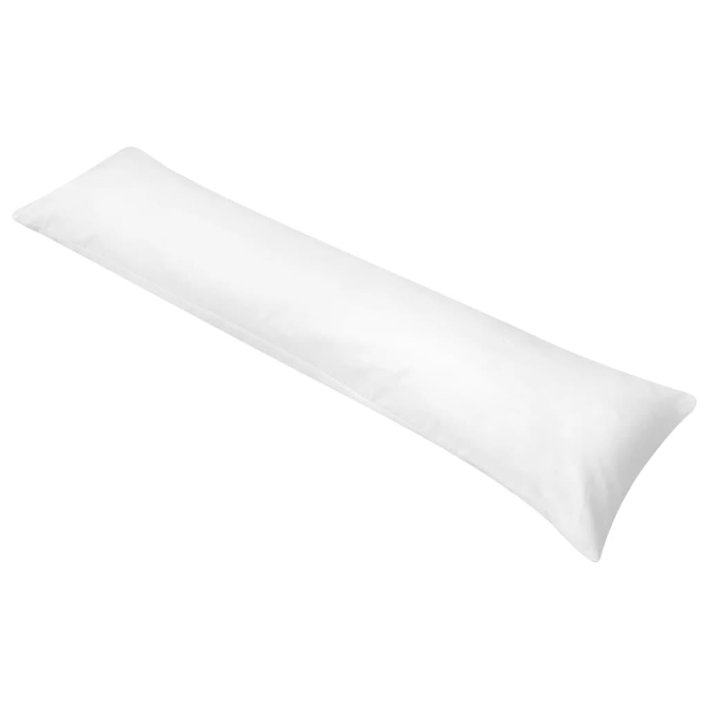 vidaXL Pernă pentru dormit lateral 40 x 145 cm alb