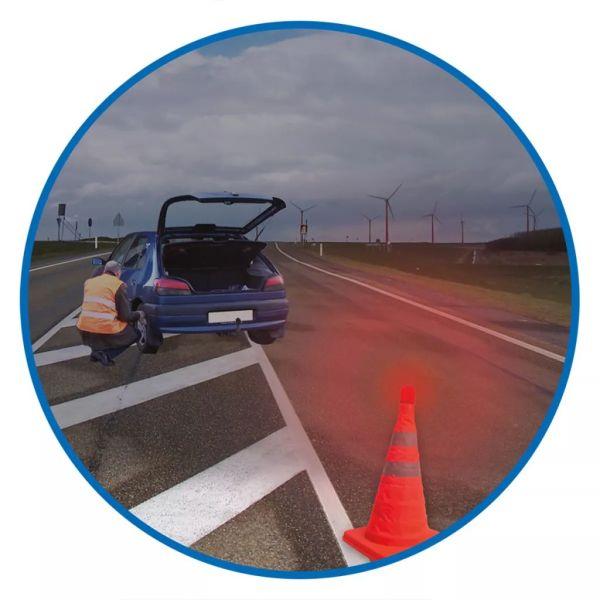 ProPlus Con de siguranță pliabil cu LED-uri, 540319
