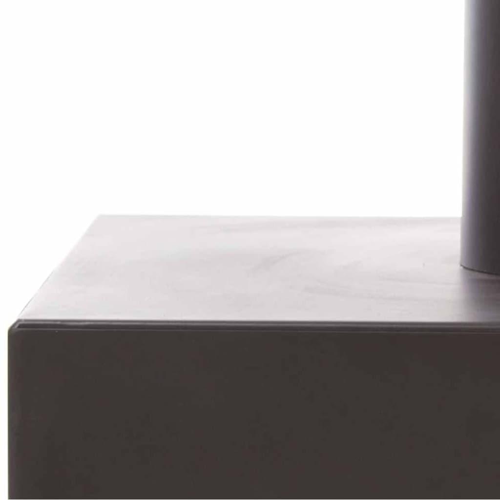 "RedFire Șemineu ""Jersey XL"", Oțel negru 81076"