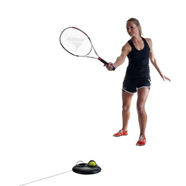 Pure2Improve Aparat de antrenament pentru tenis, negru, P2I100180