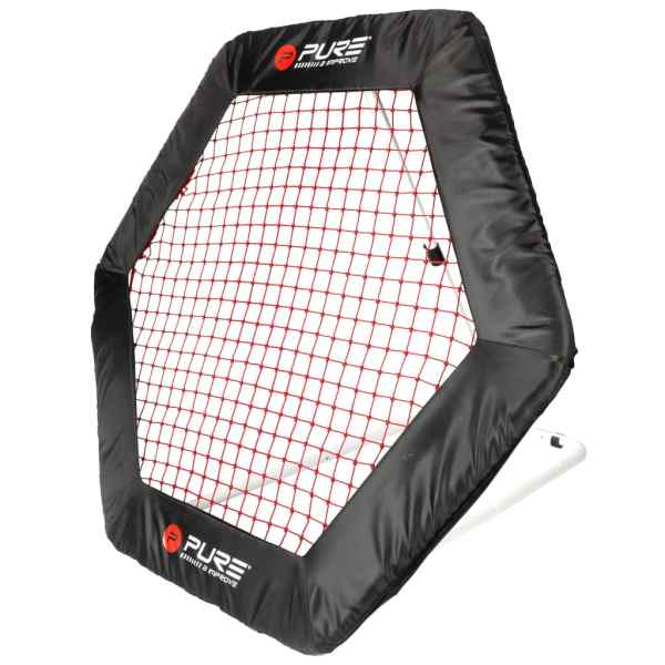 Pure2Improve Plasă fotbal rebounder, 140 x 125 cm, hexagonal