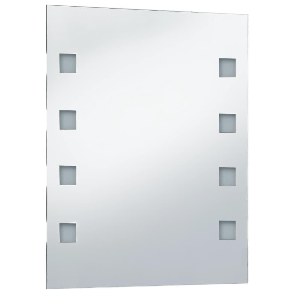 vidaXL Oglindă cu LED de perete de baie, 50 x 60 cm