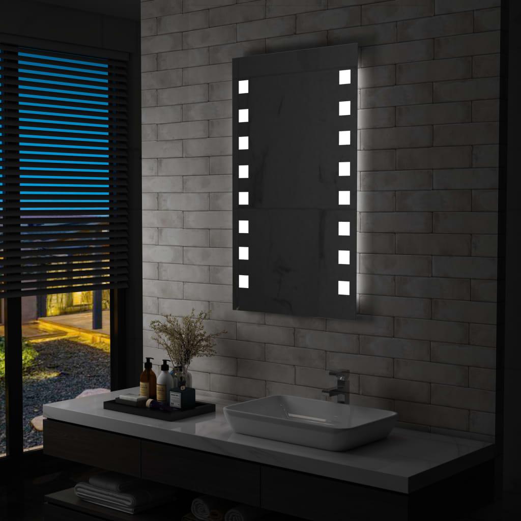 vidaXL Oglindă cu LED de perete de baie, 60 x 100 cm