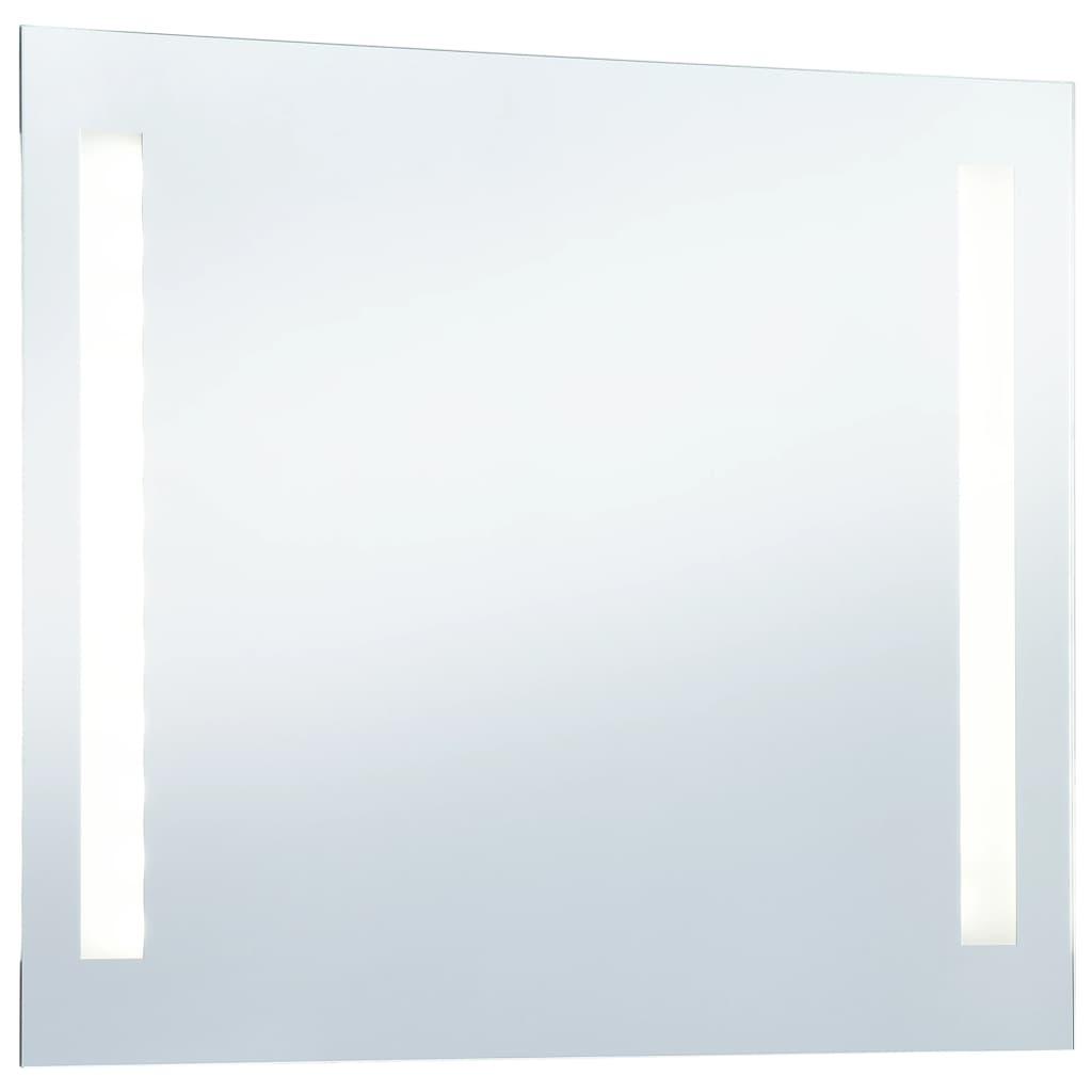 Oglindă de perete de baie cu LED, 100 x 60 cm