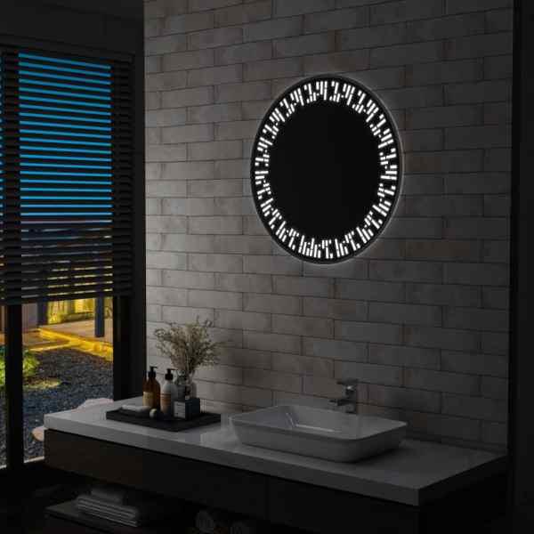 vidaXL Oglindă cu LED de baie, 70 cm