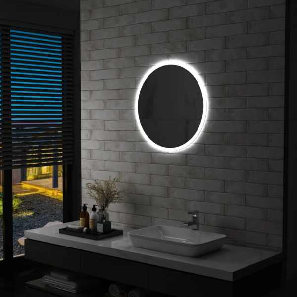 vidaXL Oglindă cu LED de baie, 60 cm