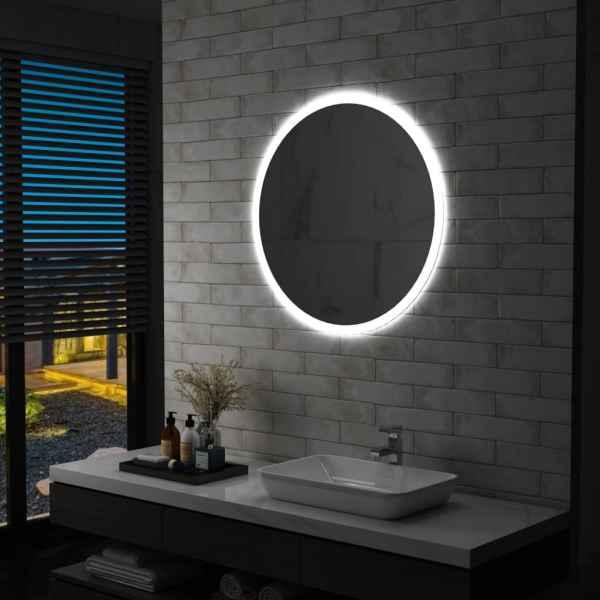 vidaXL Oglindă cu LED de baie, 80 cm