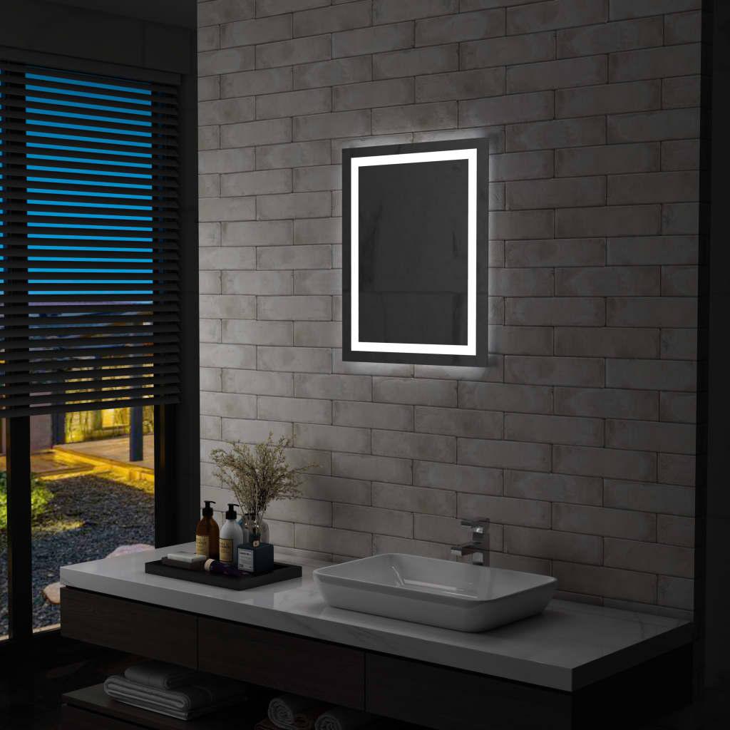 vidaXL Oglindă cu LED de baie cu senzor tactil, 50 x 60 cm