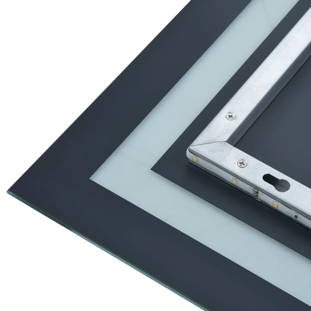 vidaXL Oglindă cu LED de baie cu senzor tactil, 60 x 80 cm