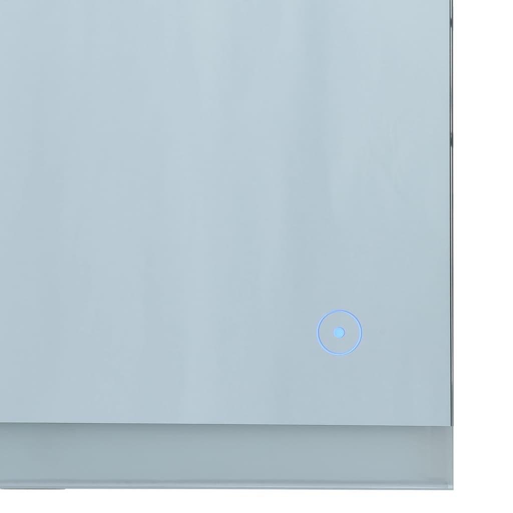 Oglindă cu LED de perete de baie cu senzor tactil, 80 x 60 cm