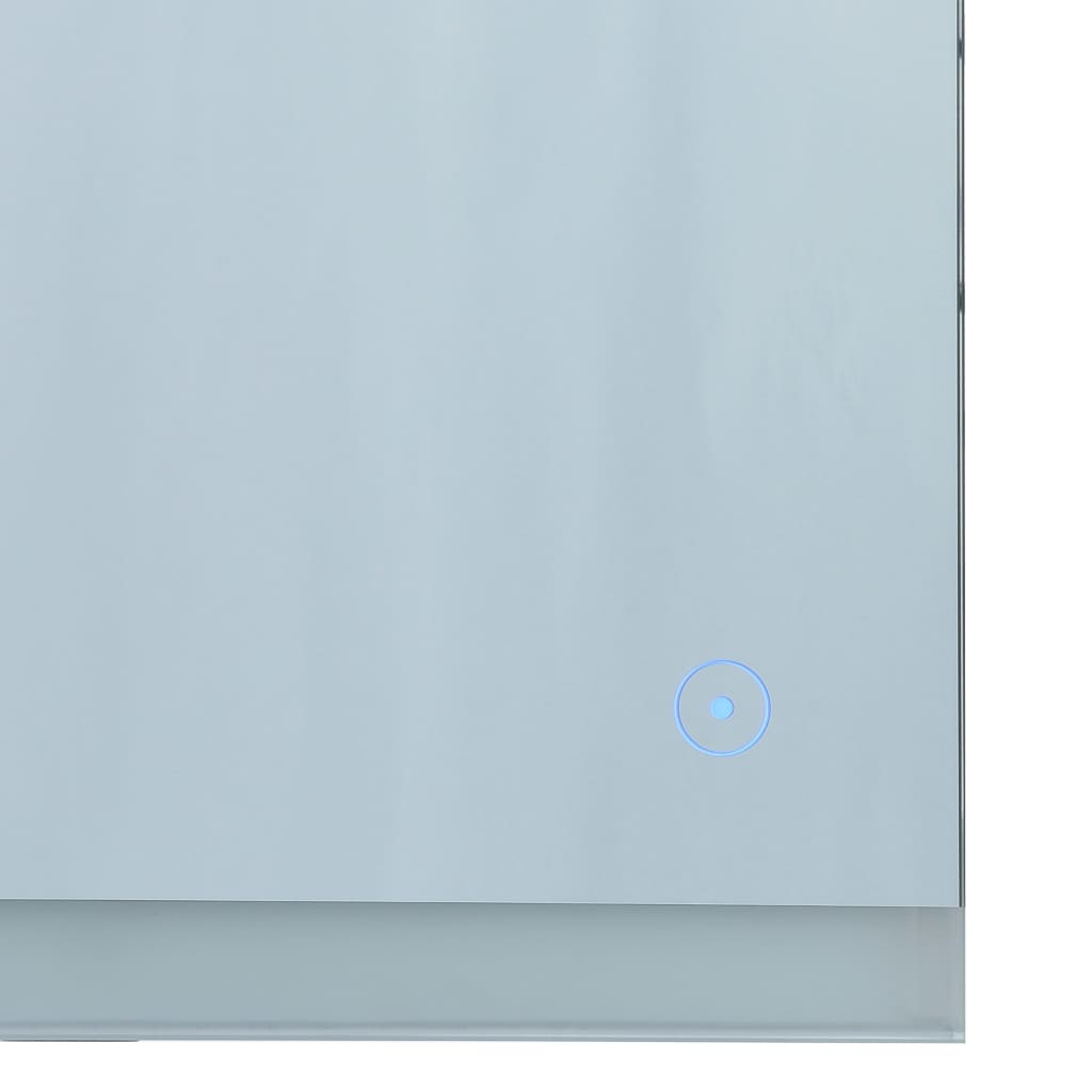 Oglindă cu LED de perete de baie cu senzor tactil, 100 x 60 cm