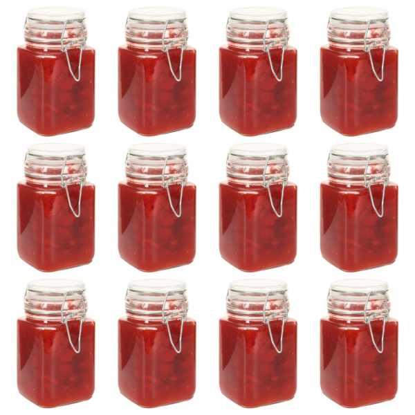 vidaXL Borcane din sticlă cu închidere ermetică, 12 buc., 260 ml