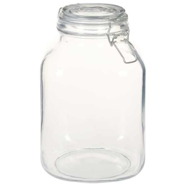 vidaXL Borcane din sticlă cu închidere ermetică, 6 buc., 3 L