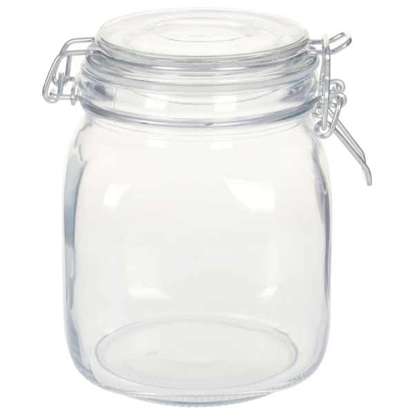 vidaXL Borcane din sticlă cu închidere ermetică, 6 buc., 1 L