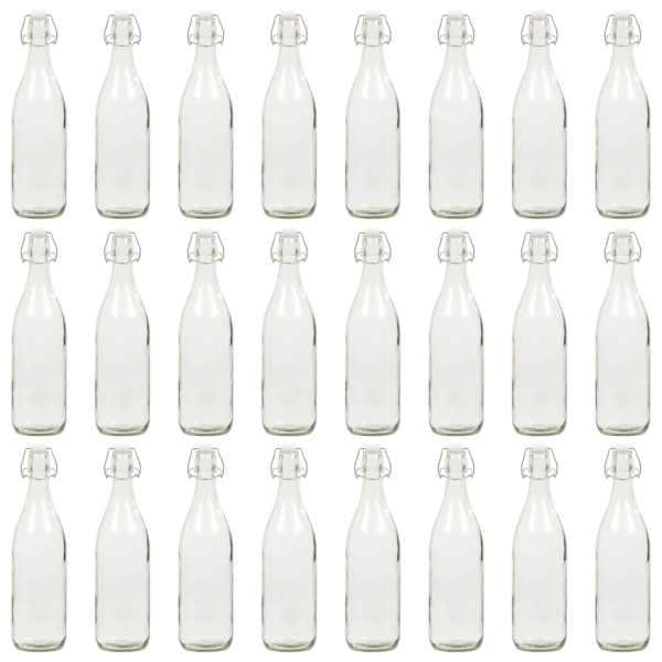 vidaXL Sticlă cu dop ermetic, 24 buc., 1 L