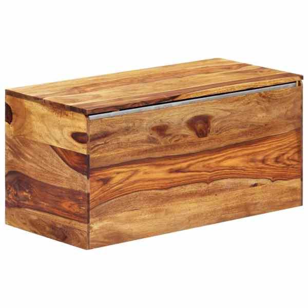 vidaXL Cufăr de depozitare, 80 x 40 x 40 cm, lemn masiv de sheesham
