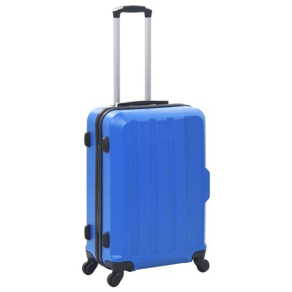 vidaXL Set valize cu carcasă rigidă, 3 buc., albastru, ABS