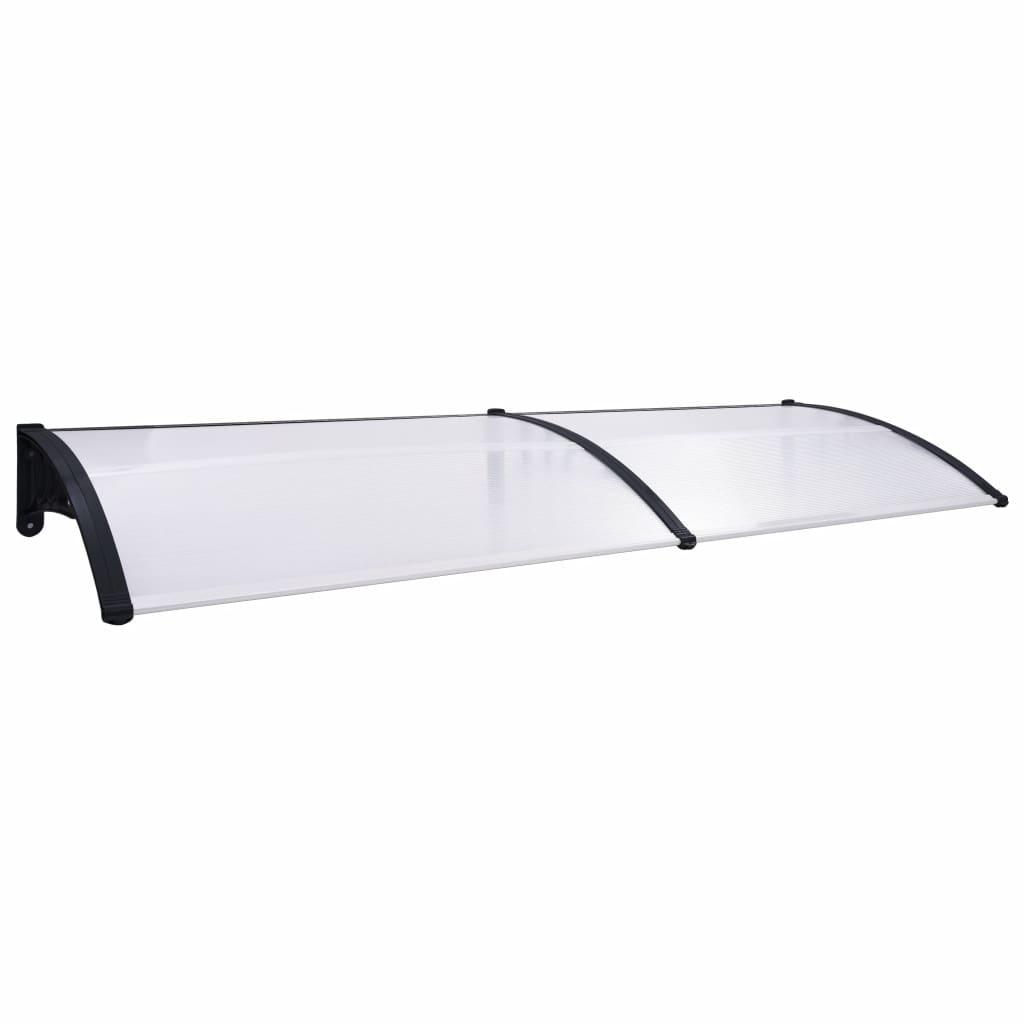 vidaXL Copertină de ușă, negru și transparent, 240 x 80 cm, PC