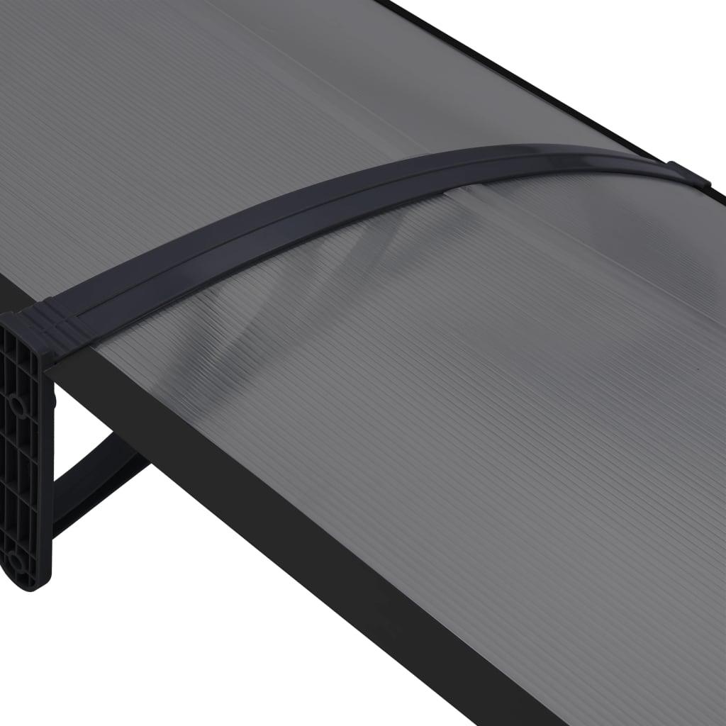 Copertină de ușă, negru, 200 x 80 cm, PC