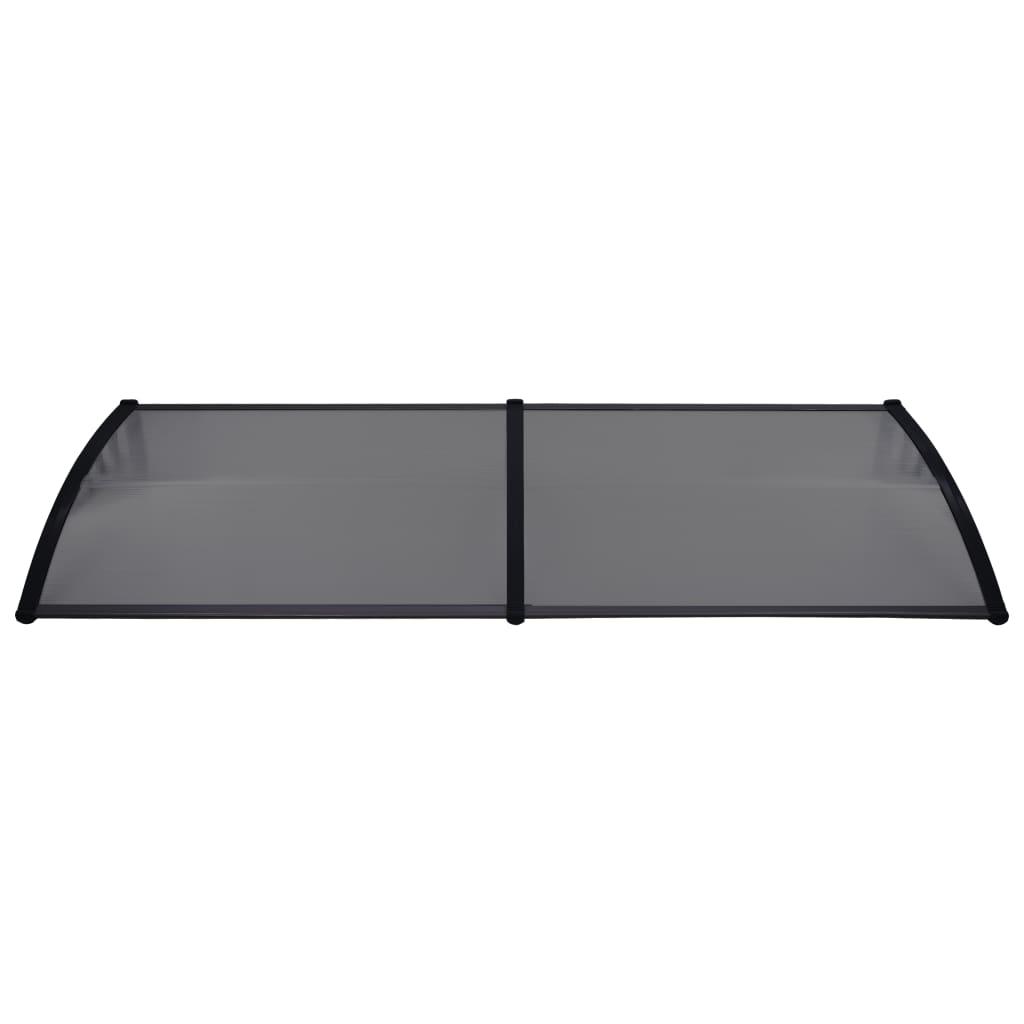vidaXL Copertină de ușă, negru, 240 x 80 cm, PC