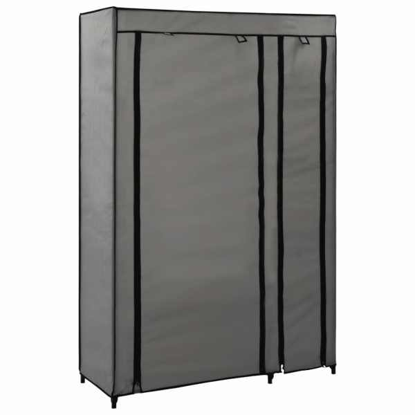 Dulapuri pliabile de haine 2 buc. gri 110x45x175 cm țesătură