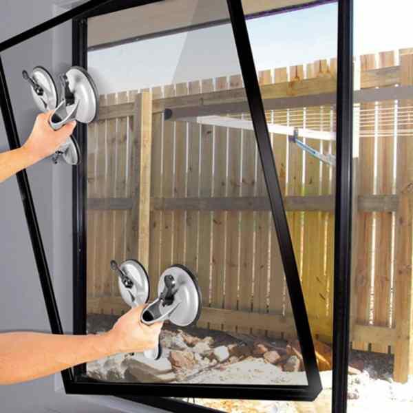 ProPlus Dispozitive de ridicare cu vid cu 3 ventuze, 2 buc, aluminiu