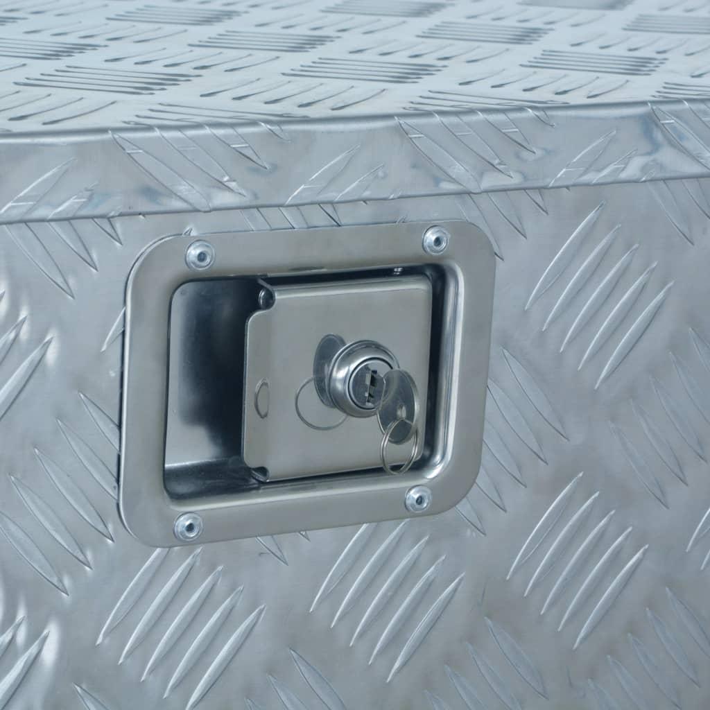 vidaXL Ladă din aluminiu, 737/381 x 410 x 460 cm, argintiu