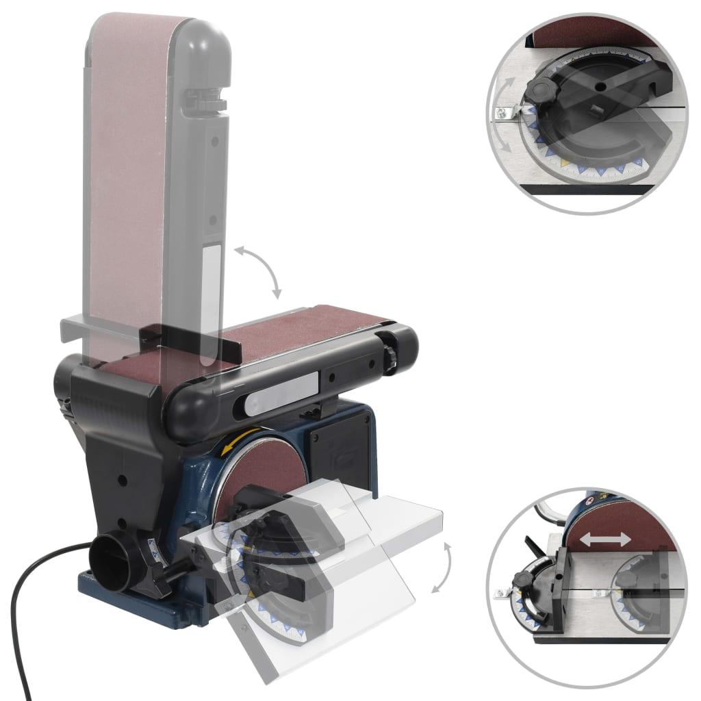 vidaXL Mașină de șlefuit electrică cu disc și bandă, 370 W, 150 mm