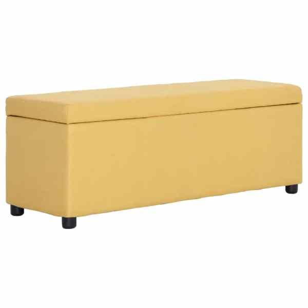 vidaXL Bancă cu compartiment de depozitare, galben, 116 cm, poliester