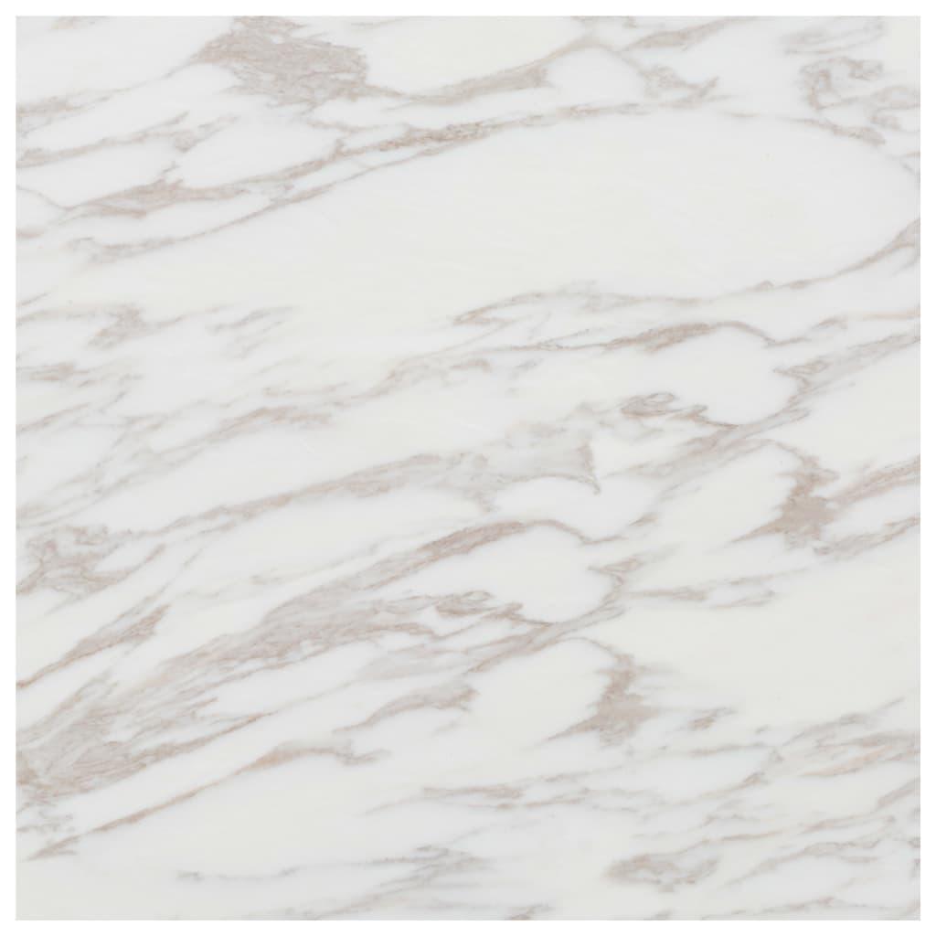 vidaXL Plăci de pardoseală autoadezive, PVC, 5,11 m², marmură albă