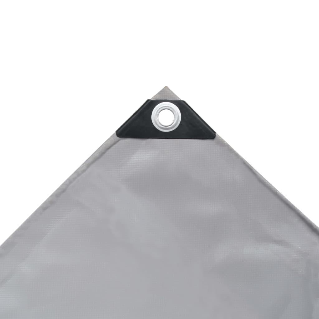 vidaXL Prelată, gri, 3,5 x 5 m, 650 g/m²