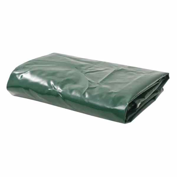 vidaXL Prelată, verde, 6 x 8 m, 650 g/m²