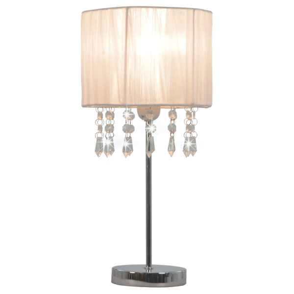 vidaXL Lampă de birou, alb, rotund, E27