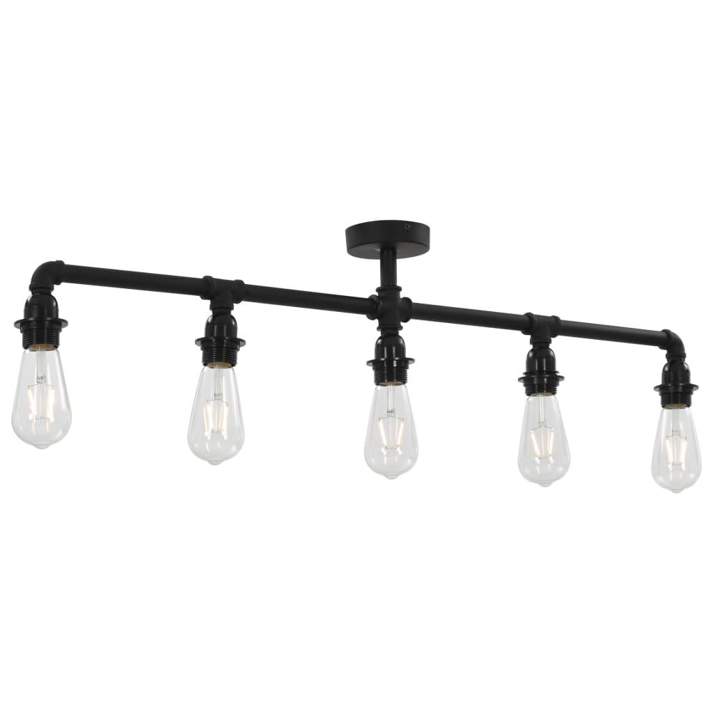 Lampă de tavan, negru, 5 becuri x E27