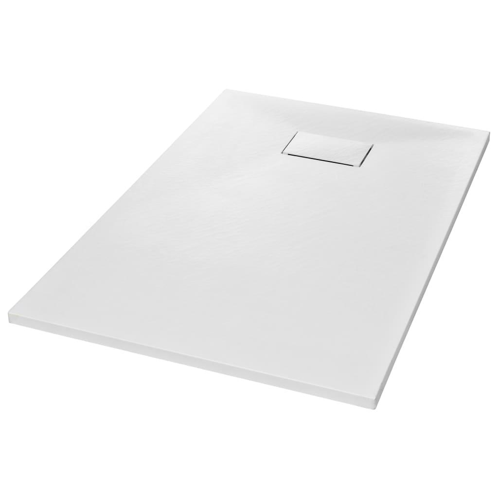 vidaXL Cădiță de duș, alb, 120 x 70 cm, SMC