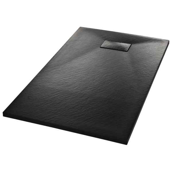 Cădiță de duș, negru, 120 x 70 cm, SMC