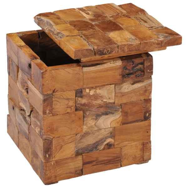 vidaXL Taburet de depozitare, lemn masiv de tec