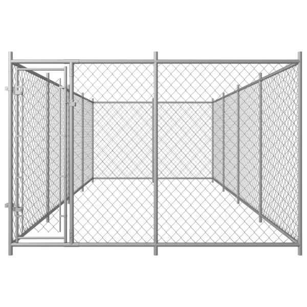 Padoc pentru câini de exterior, 8 x 4 x 2 m