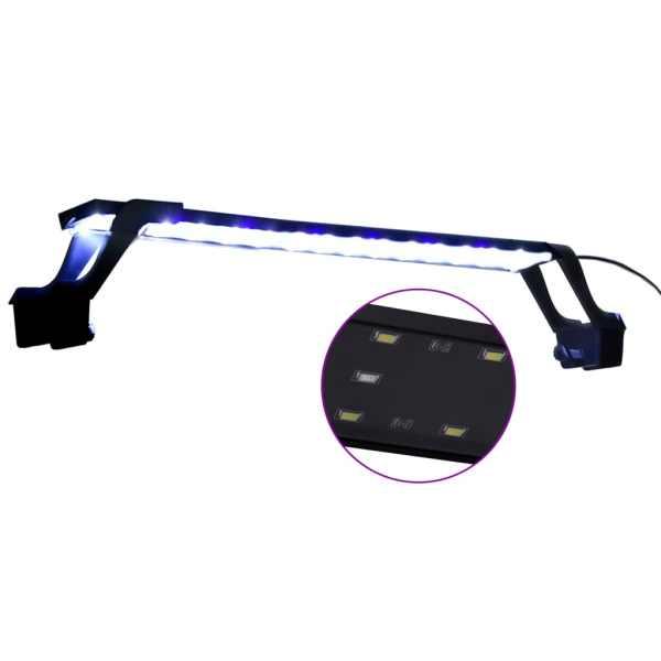 Lampă LED pentru acvariu, cu clemă, albastru/alb, 55-70 cm