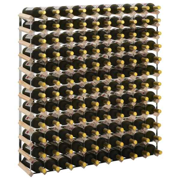vidaXL Suport sticle de vin pentru 120 sticle, lemn masiv de pin