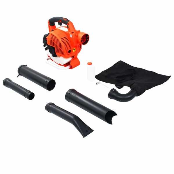 vidaXL Suflantă de frunze 3-în-1 cu benzină 26 cc portocaliu