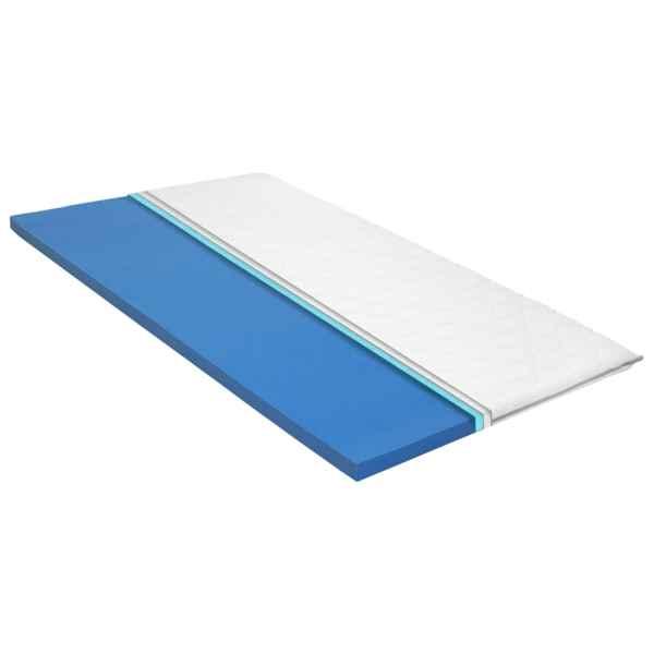 vidaXL Topper saltea, 80 x 200 cm, spumă cu memorie Visco, 6 cm