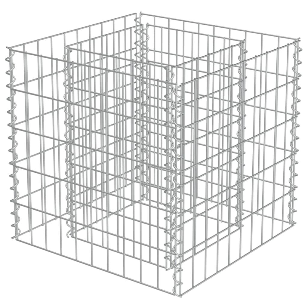 vidaXL Strat înălțat gabion, 50 x 50 x 50 cm, oțel galvanizat