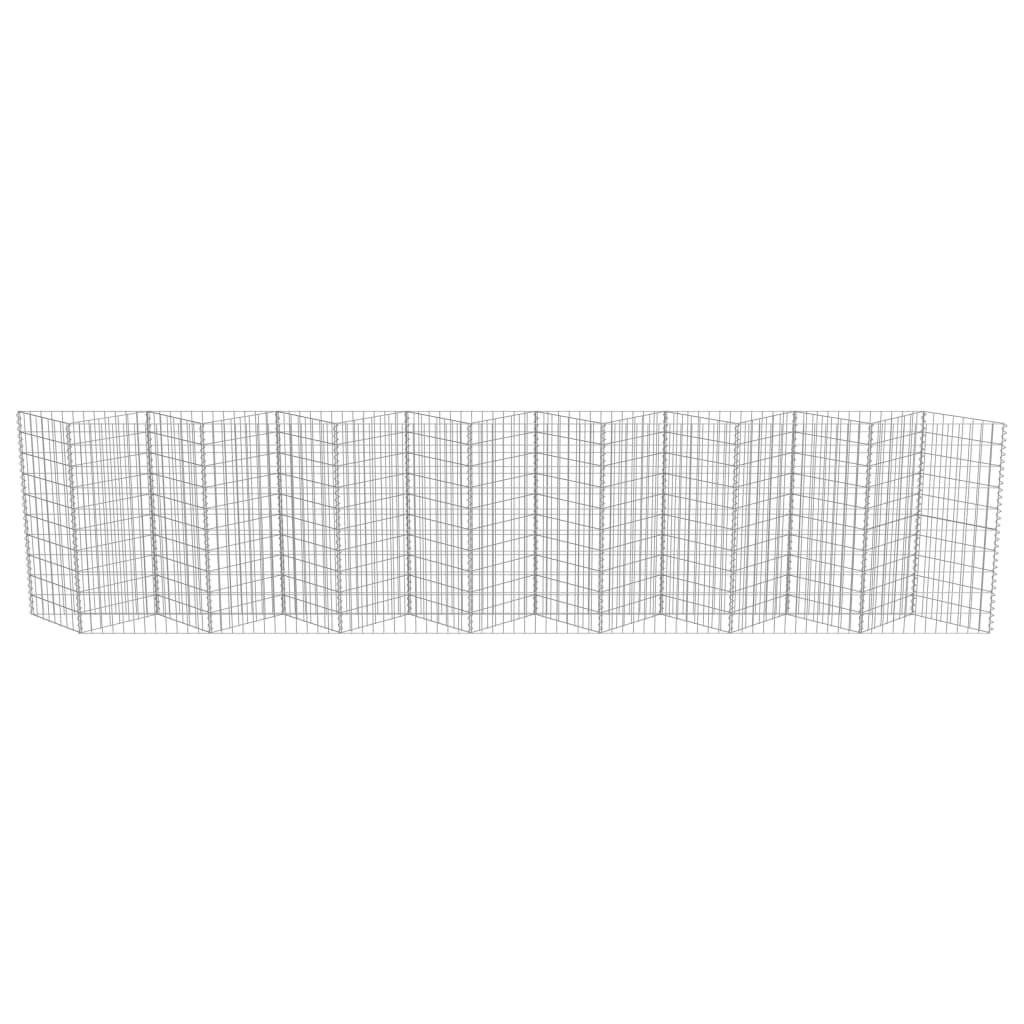 vidaXL Perete gabion, oțel galvanizat, 450 x 30 x 100 cm