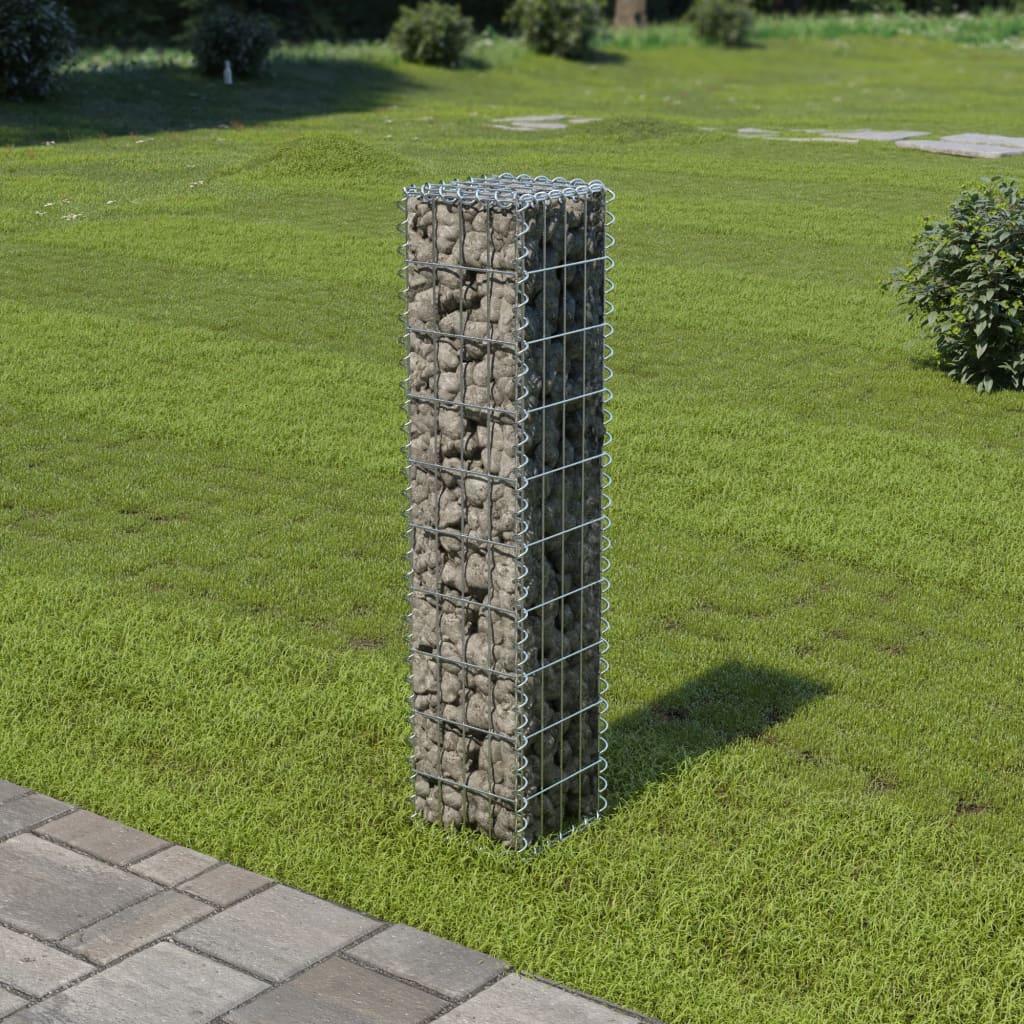 vidaXL Perete gabion cu capace, 20x20x100 cm, oțel galvanizat