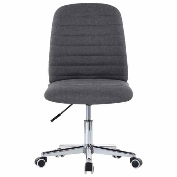 Scaun de birou pivotant, gri închis, material textil