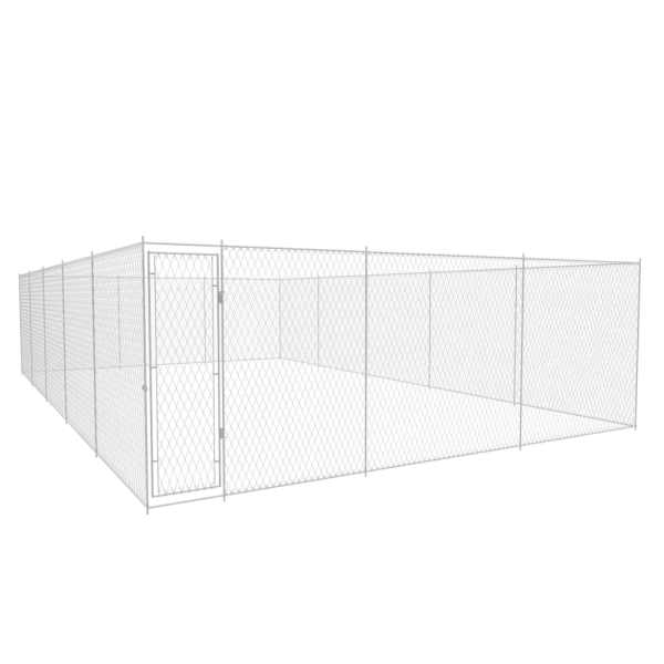 vidaXL Padoc pentru câini de exterior, 950x570x185 cm, oțel galvanizat
