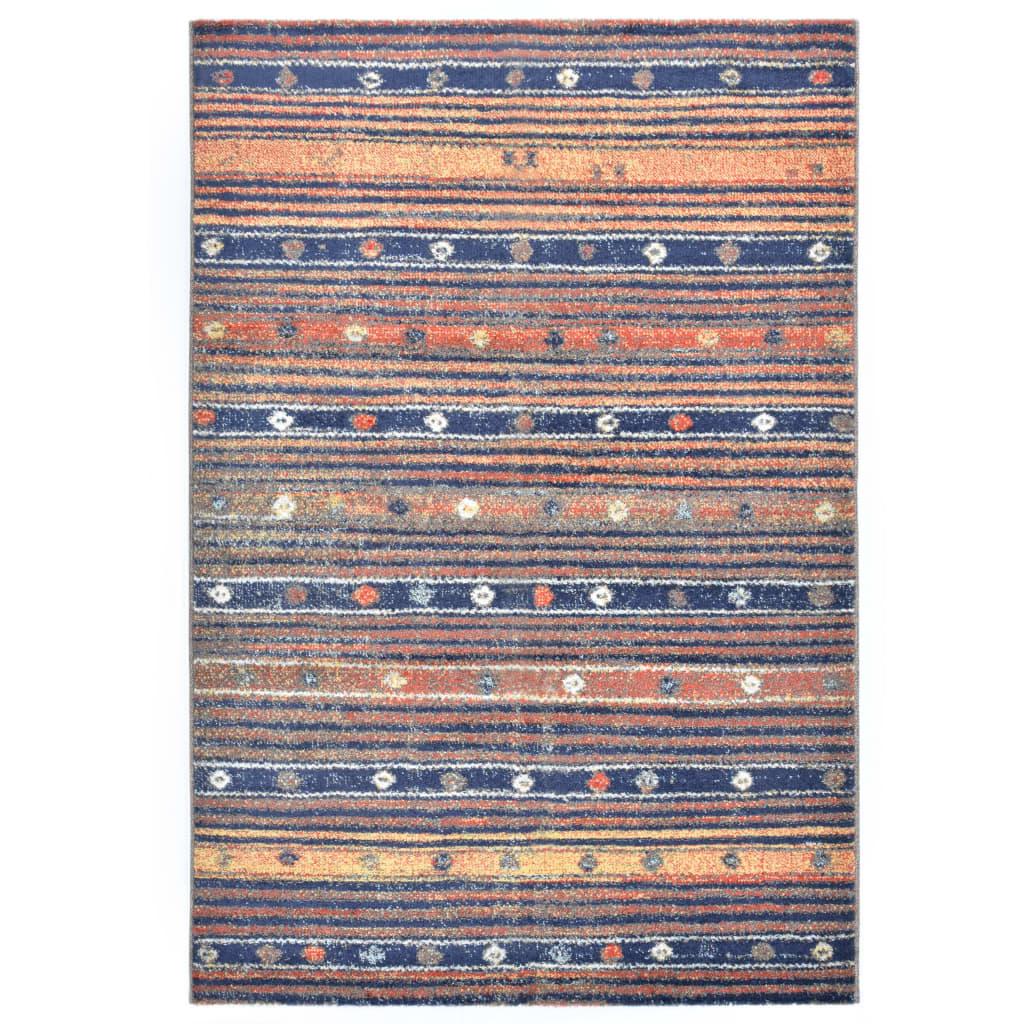 vidaXL Covor, albastru și portocaliu, 140 x 200 cm, PP