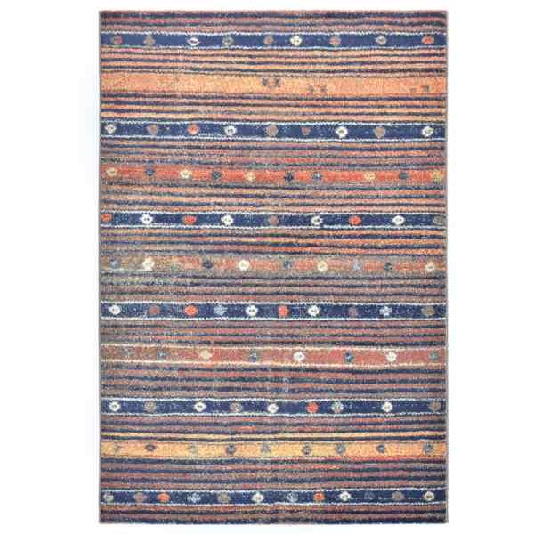 vidaXL Covor, albastru și portocaliu, 160 x 230 cm, PP