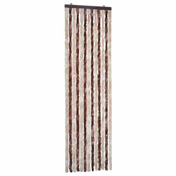 Perdea pentru insecte, bej și maro deschis, 56×185 cm, Chenille
